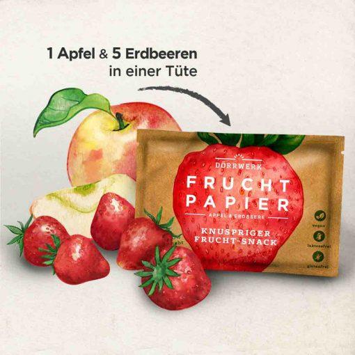 Dörrwerk Fruchtpapier Erdbeere & Apfel Pocket