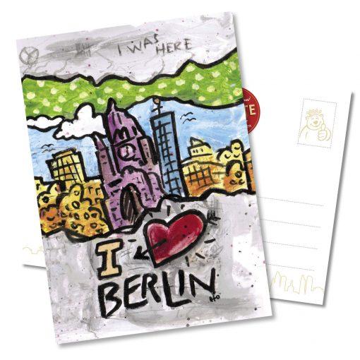 "Orijinal Berliner Postkarte ""Kaiser-Wilhelm-Gedächtniskirche"""