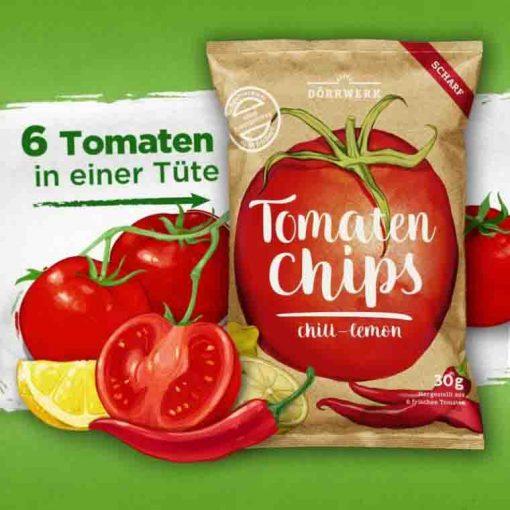 Dörrwerk Tomaten Chips Chili Lemon