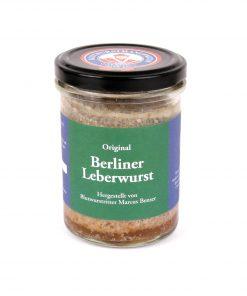 Original Berliner Leberwurst vom Blutwurstritter 175g Glas