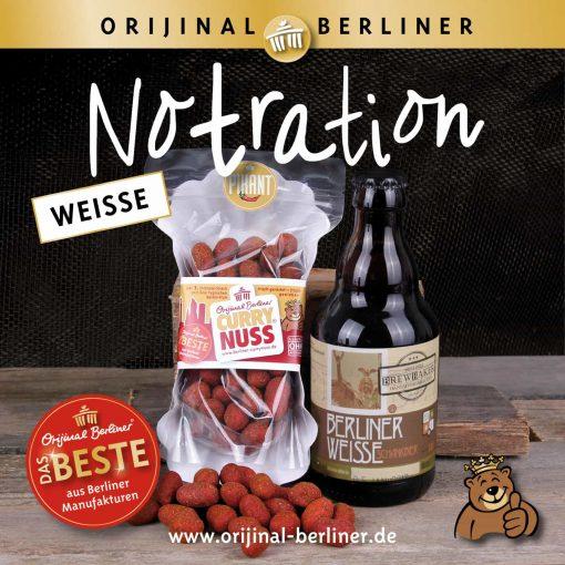 "Orijinal Berliner Tüte ""Weiße Notration"""