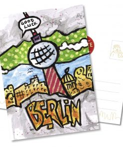 "Orijinal Berliner Postkarte ""Fernsehturm"""