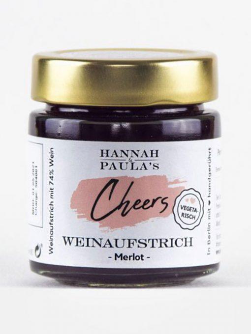 Hannah & Paula´s Merlot Cheers Weinaufstrich