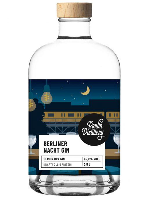 Berliner Nacht Gin von Berlin Distillery 0,05l