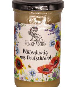 """Honigmädchen """"Blütenhonig aus Deutschland"""" 325g Glas"""